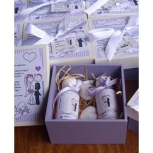 Caixa kit beleza para lembrancinha de casamento