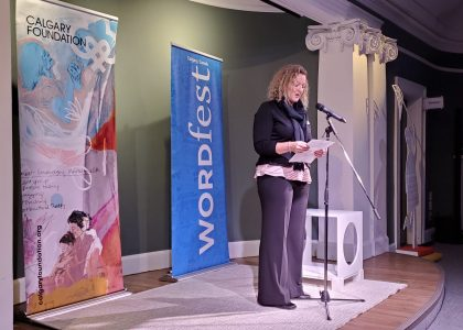 Brenda Strathern writing prize winner with Wordfest