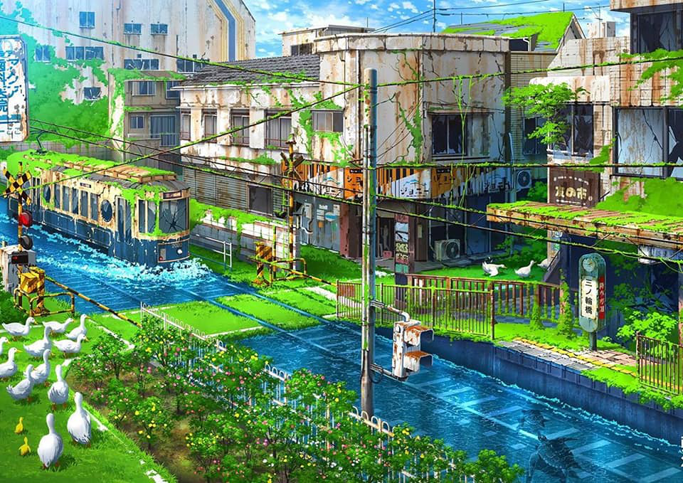 35 beautiful Japanese anime fantasy world wallpapers HD