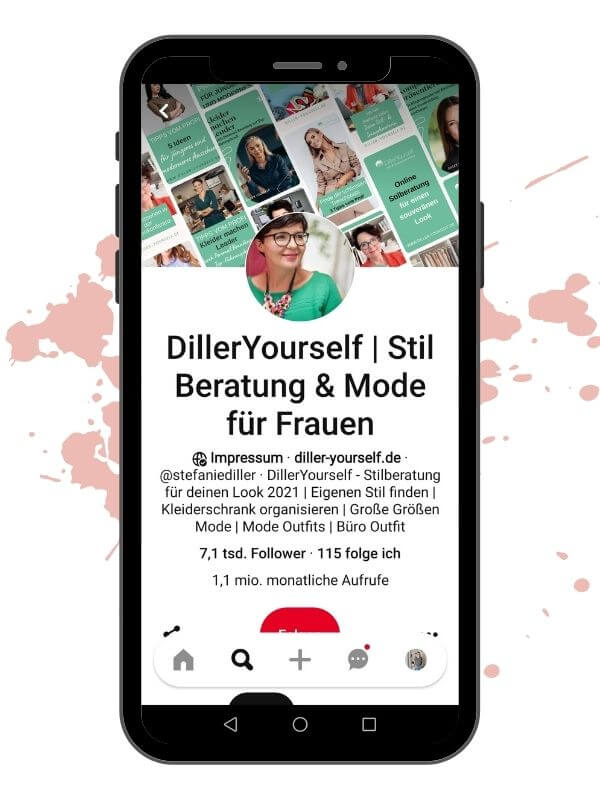 Pinterest Account Beispiel - Diller Yourself