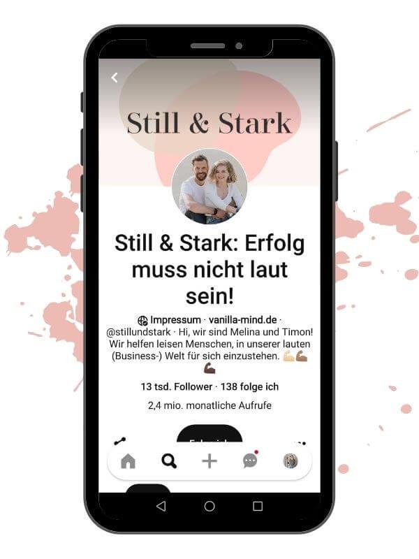 Pinterest Accout Beispiel - Still u. Stark