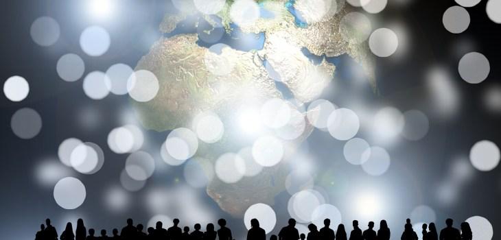 Human Around the world, communicating