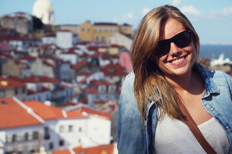 Carina Behrens i Lisboa. Sommerferie 2014. carinabehrens.com