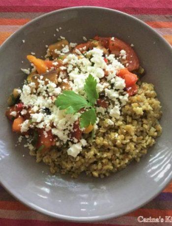 Briam met quinoa