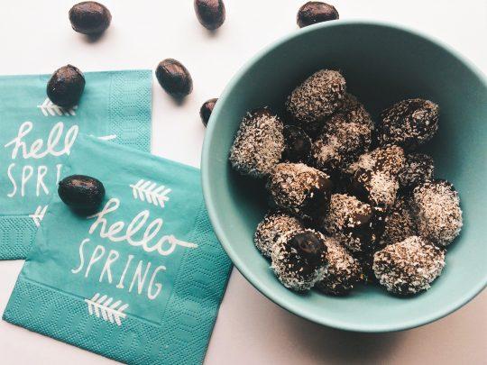 Heerlijke chocolade kokos dadels