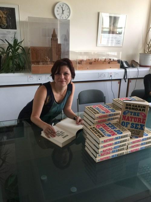 Carin Bondar book tour