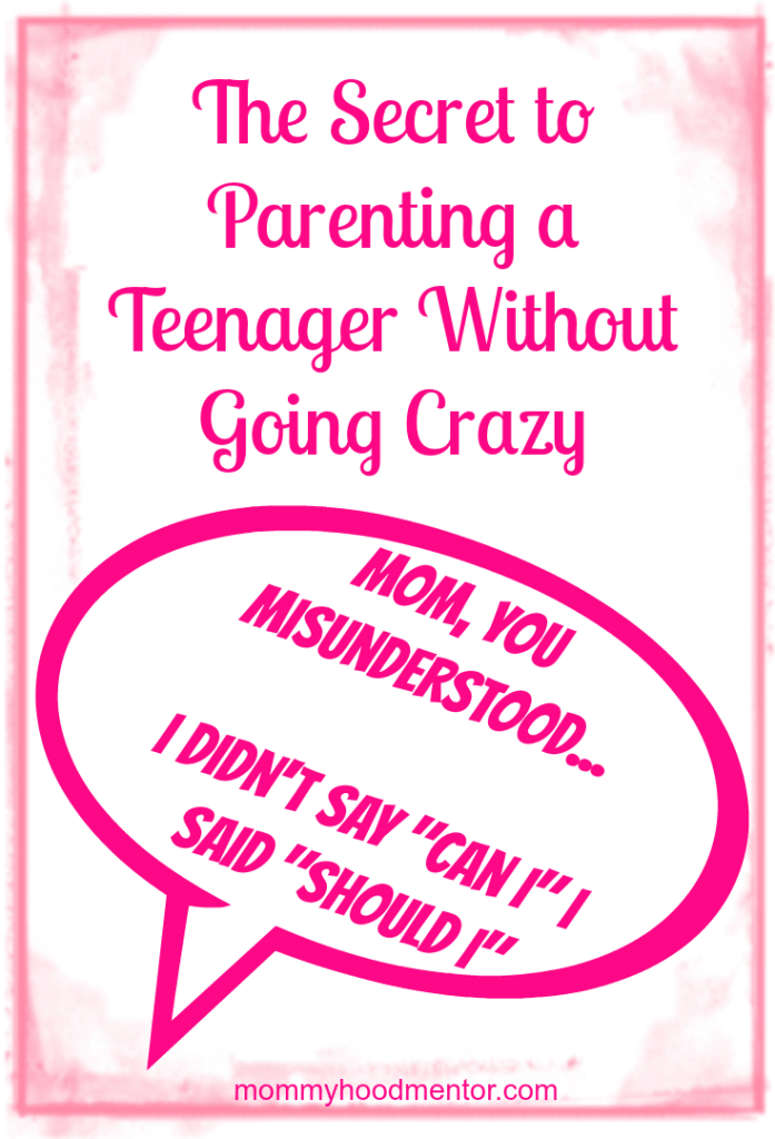 parenting teen without going crazy