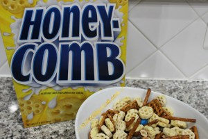 Fun Snacking With Post & Sing Movie (Super Easy HoneyComb Trail Mix)