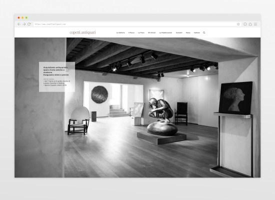 Copetti Antiquari website, Antiques Gallery in Udine. Web design by Carin Marzaro.