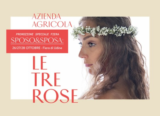 Le Tre Rose graphic design by Carin Marzaro