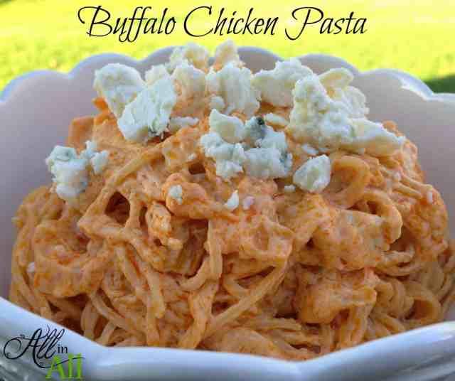 http://www.carissashaw.com/2014/10/buffalo-chicken-pasta.html