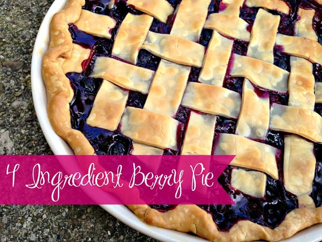 4 Ingredient Berry Pie