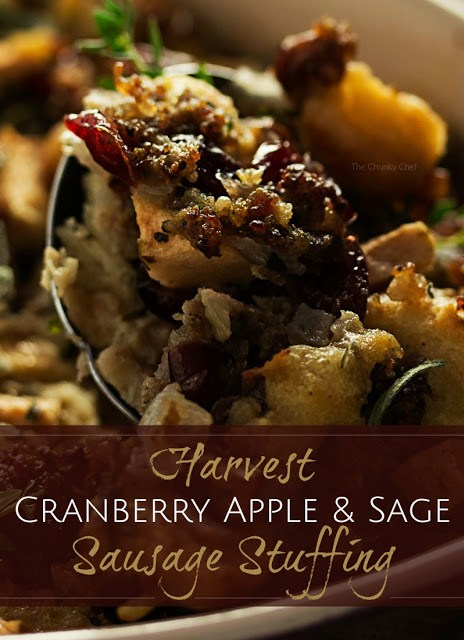 http://www.thechunkychef.com/harvest-apple-cranberry-and-sage-sausage-stuffing/
