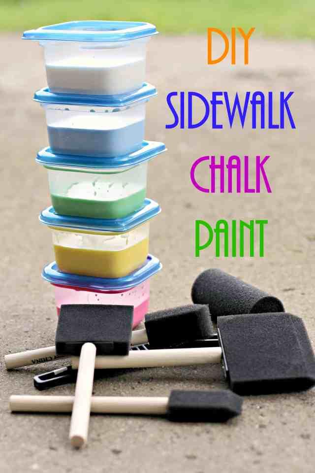 Homemade Sidewalk Chalk Paint 12