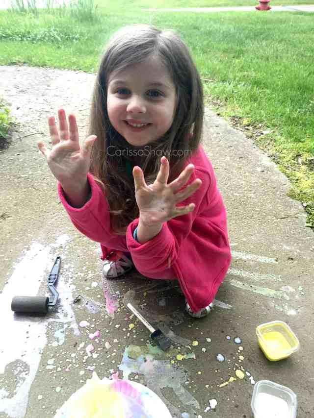 Homemade Sidewalk Chalk Paint 9