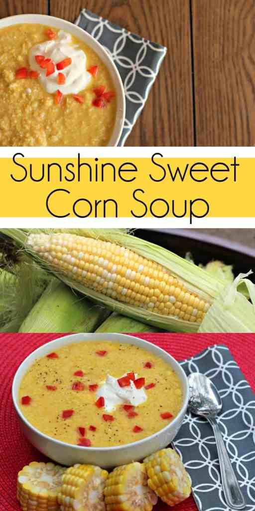 Sunshine Sweet Corn Soup pin