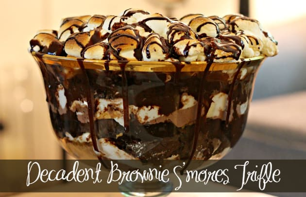 Decadent Brownie S'mores Trifle 10