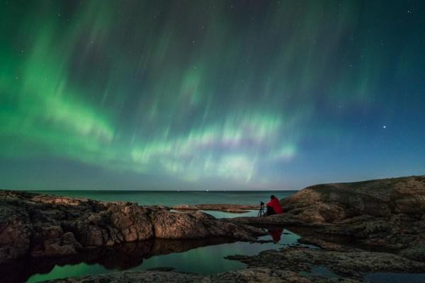 Norrsken över ålands hav