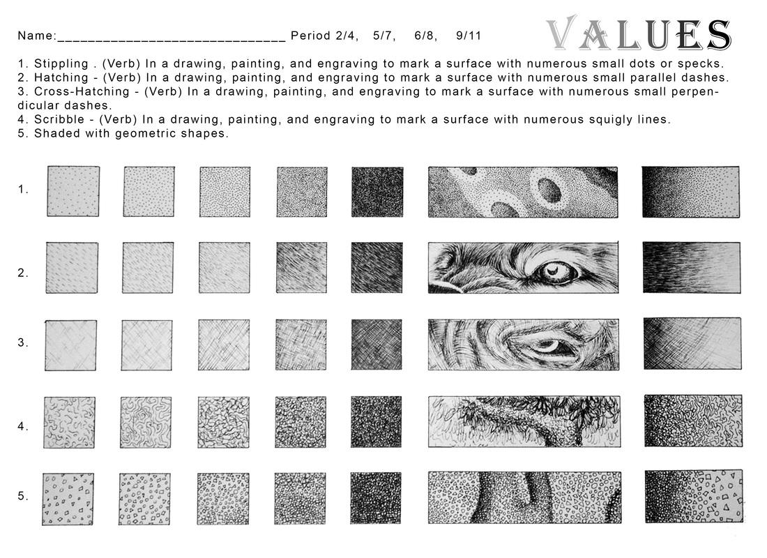 Value Scale Worksheet 7