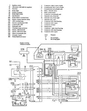 Volvo 740 (1989  1990)  wiring diagrams  brake controls