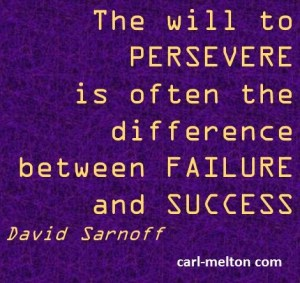 Persevere to success