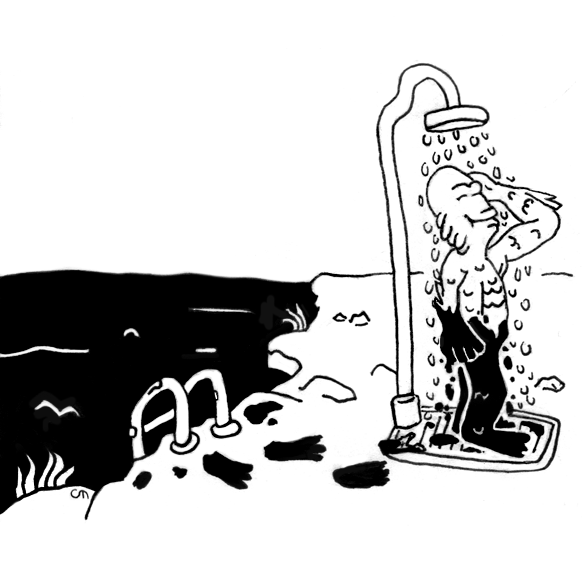 Inktober Day 7: Creature from the Black Lagoon
