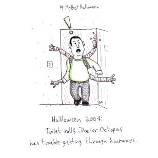 Inktober Day 31: My Best Halloween