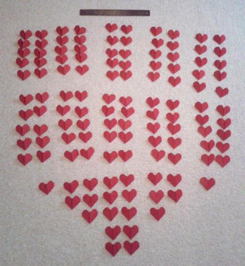 121 Origami Hearts