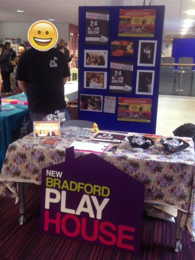 Rectuiting at Bradford Uni's Freshers Fair.