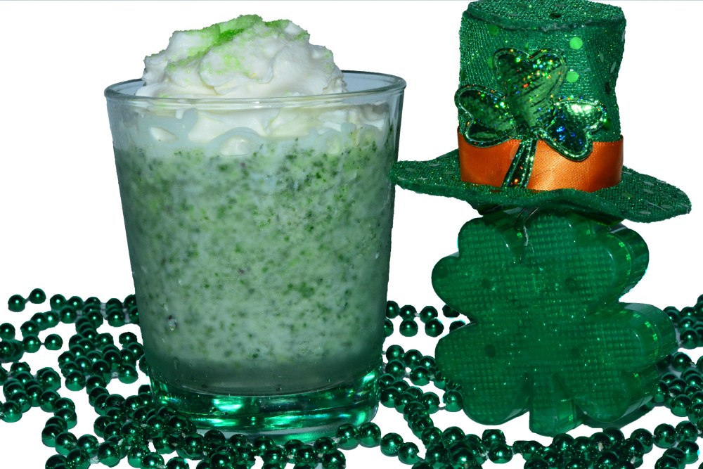 st. patrick's day caipi cocktail