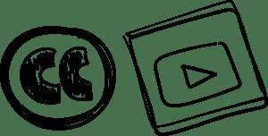 Image du logo Creative Commons, logo YouTube