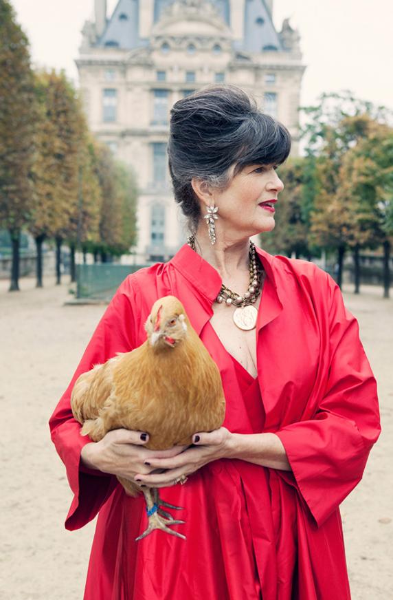 La Contessa Carla Coulson portrait shoot Paris