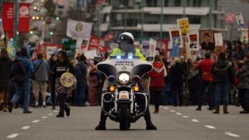 Stop Kinder Morgan: No Consent, No Pipeline, March and Rally, November 19, 2016, Vancouver, BC.