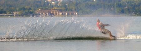 Water Skier on Wood Lake, Oyama, BC