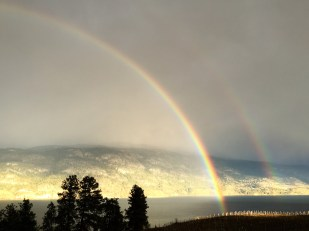Double Rainbow over Kaleden, BC