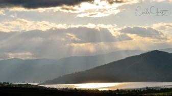Afternoon sky over Okanagan Lake, Vernon