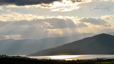 Afternoon sky over Okanagan Lake, Vernon
