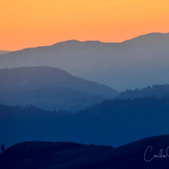Sunset on the Rolling Hills above Vernon, BC