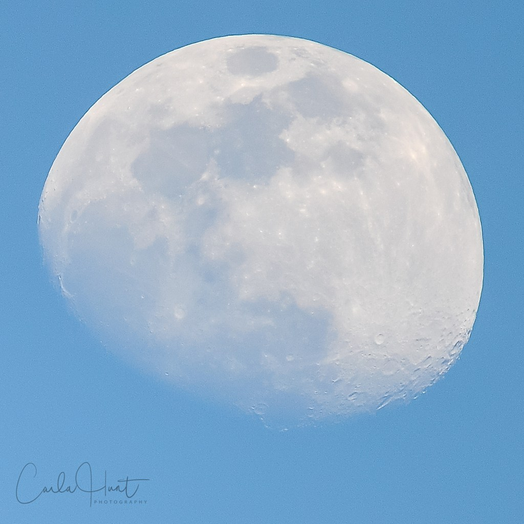 April 15, 2019 afternoon moon, Vernon, BC