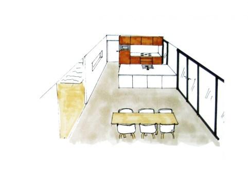 tekening keuken