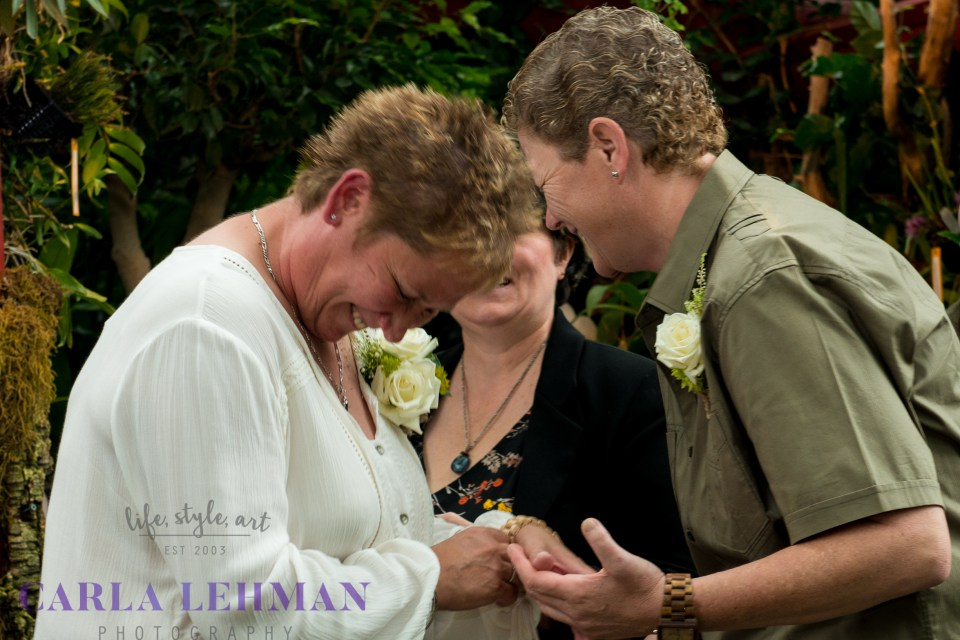 Love and laughter in the ceremony
