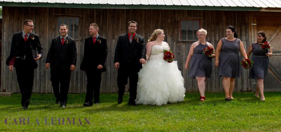 Bridal party antics at Camrose