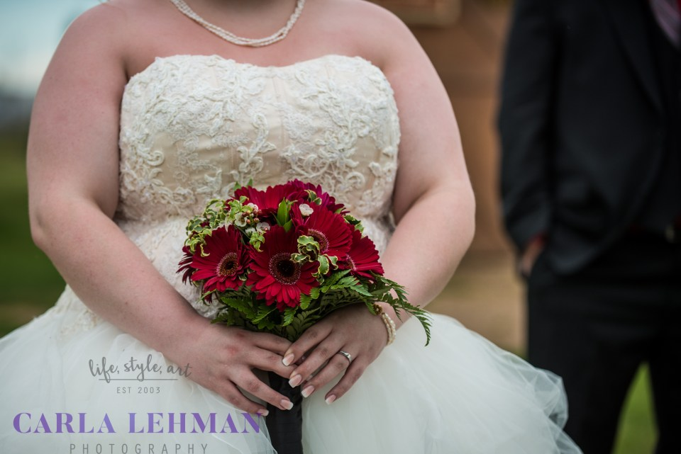 Bridal bouquet on display in Camrose Alberta