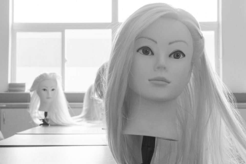 Cosmetology class, much anticipated, now in limbo. Documentary Photo Essay