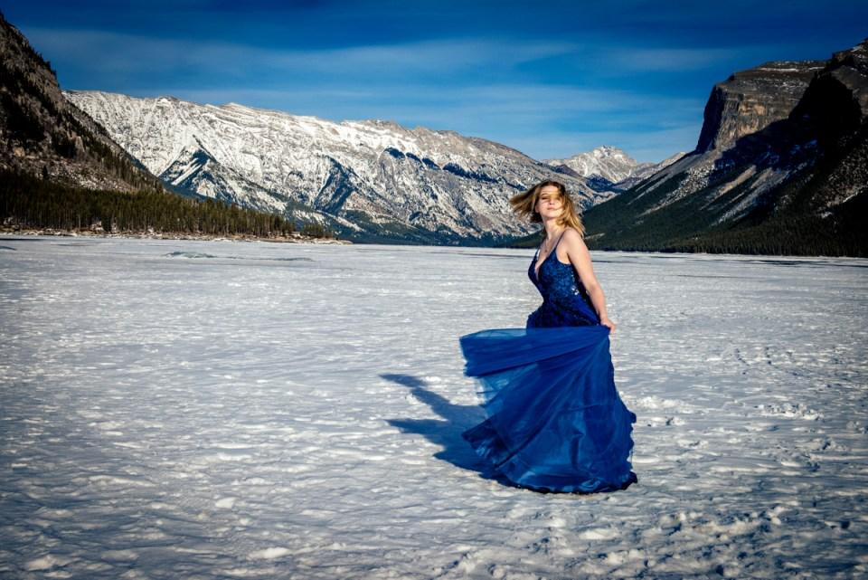 Lake Minnewanka Formal Gown Portraits