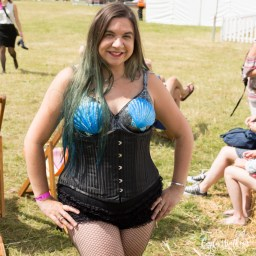 Lotta Fiero / Mermaid Kerenza Sapphire performing with Burlesque Jems at the Fling Festival 2017 | Carla Watkins Photography for carlalouise.com