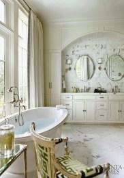 amy morris atlanta homes mag bryant sconce greek key fabric chair master bath