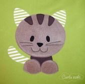 Applikation Katze Kätzchen Carla näht