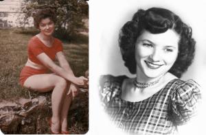My mother, Dixie (l) 18 Violet (r) 19