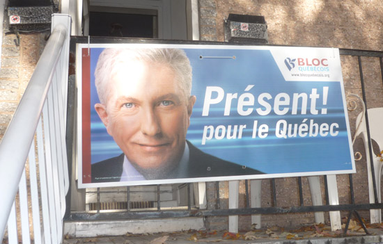 Pancarte électorale de Gilles Duceppe